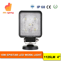 "IP68 4"" 15W auto parts 4x4 offroad led light for ATVs, SUV, UTV, truck, Fork lift, trains, boat, bus"