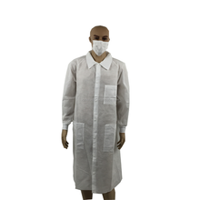 OEM colored medical Clean room garment clothing overcoat smock overall jacket disposable white lab coat