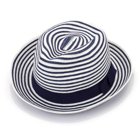 Black and white striped top hat