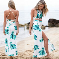 Custom Design Open Two-piece Maxi dresses