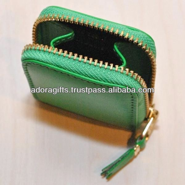 attractive handmade leather coin purse / custom cute coin holder purse / pu coin holder manufacturer