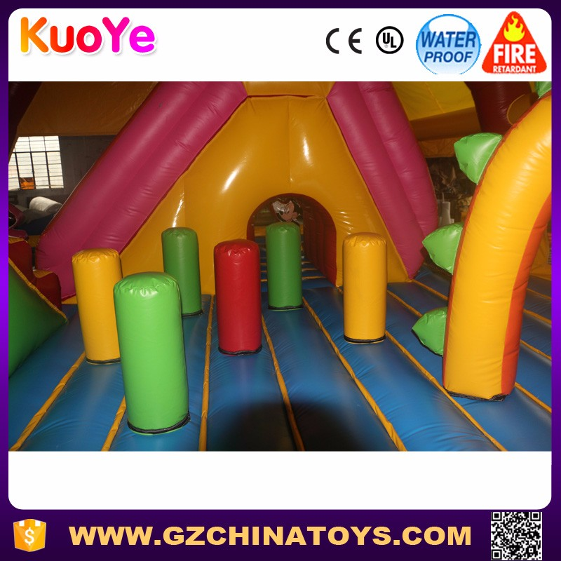 Customized kids giant inflatable castle fun city playground for sale