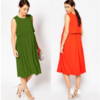 Round neck sleeveless fashion wholesale maternity clothes