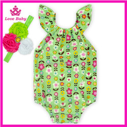 romper babies playsuit attractive flower prints children fashion comfortable romper suit