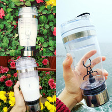Amazon Hot Selling 2017 Automatic high performanc electric plastic gym fitness powder protein vortex shaker mixer water bottle