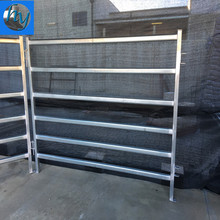 1800mm high Heavy duty oval or round rail steel yard cattle panels on sale