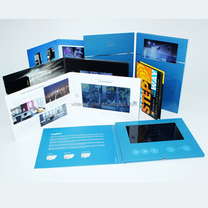 2.4 2.8 3.5 4.3 5 7 10 inch tft lcd video postcard/advertising video card display/video advertising cards