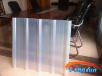 cheaper and hot sale pvc transparent corrugated roof sheet/pvc translucent roof tile/plastic pvc roofing sheet