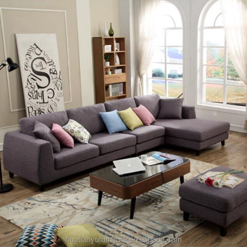 Luxury royal furniture chaise lounge living room l shaped sofa sets modern with reclining headrest