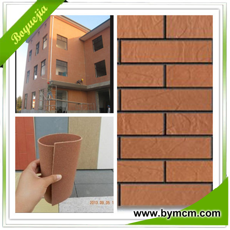 flexible facing brick tiles front wall decorative use