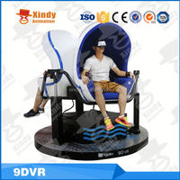 Oculus virtual reality simulator full motion flight simulator 9dvr egg shape cinema 9d simulator on sale