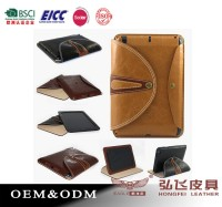 New arrival for ipad 2/3/4 wholesale leather pad case for ipad