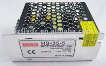 specilized manufacturer of 12vac to 12vdc led single output switching power supply(HS-35-5)