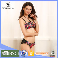 custom hot stylish demountable girl sexy fancy women bra and panty sets