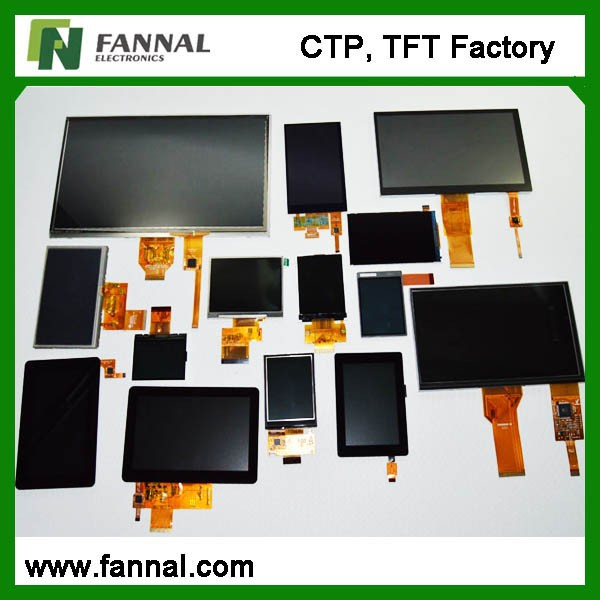 Standard and customized g+g structure USB/IIC/RS232 interface touch screen hardware