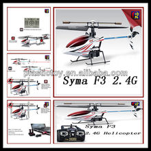 New Style for 2013 Remote Control Helicopter 2013 newly 2.4G rc 4ch helicopter with gyro Syma F3