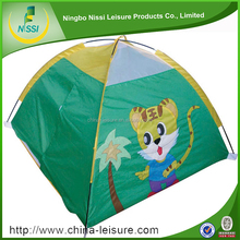 lovely printed design children kids set camping tent toy