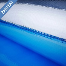 wholesale laminating pet film metallized al woven fabric for scrim roof heat insulation