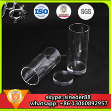 High quality virgin translucent clear large cast acrylic tube