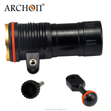 Bright Strong Archon WM26 Scuba Dive Photography Underwater Video LED Flashlight Torch XM-L2 U2 LED Underwater 100m include arm