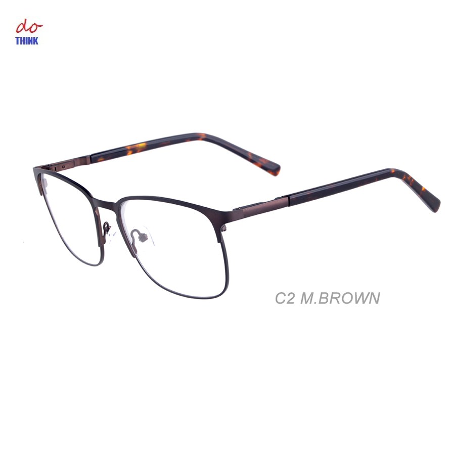 afa2f018bf7 9314 Classical Metal Two Lines Front Spectacle Frames Half Rim Optical  Eyewear China Wholesale Men