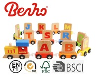High quality wooden alphabet train crafts educational wooden toys