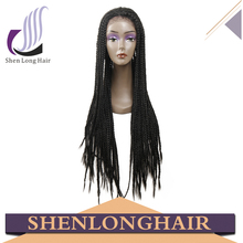 Customized color synthetic braid lace front wig,natural color jumbo braid synthetic hair, noble gold synthetic hair