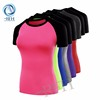 Running clothes contrast color plain fitted latest design tracksuit women