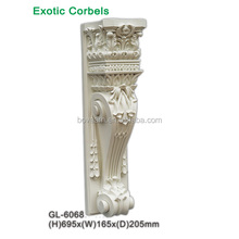 High Density Cheap PU polyurethane decorative carved wood corbels