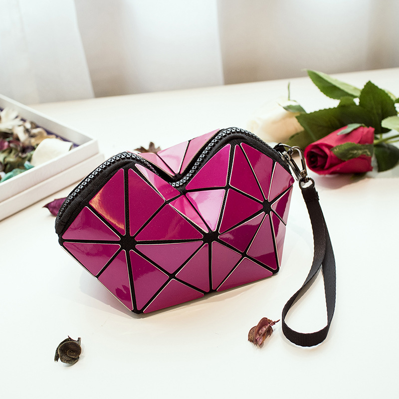 GZ OEM korea geometry style makeup bag cosmetic