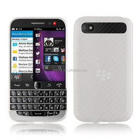 Matte half transparent clear soft gel case for blackberry classic blackberry Q20