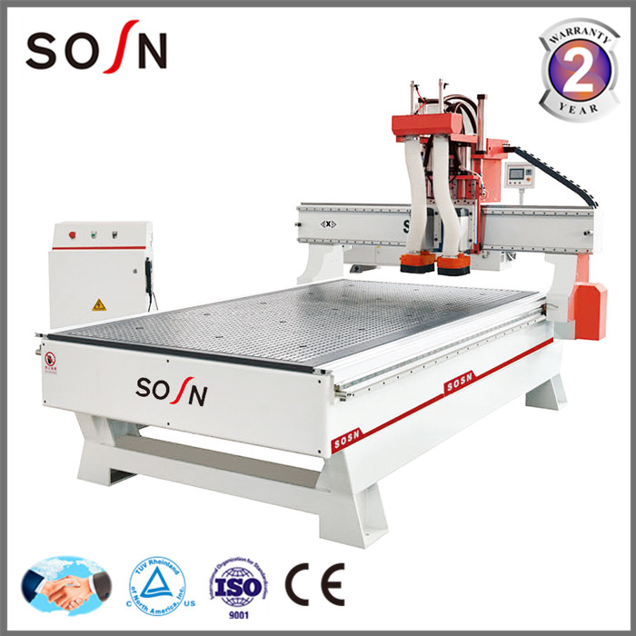 3 axis disk auto tool changer cnc router/line boring head door making cnc machine/woodworking cnc router