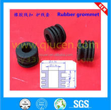 custom molded 4mm 5mm 6mm 8mm rubber wire grommets with groove/nitrile/NBR/CR/NR/viton/EPDM/silicon