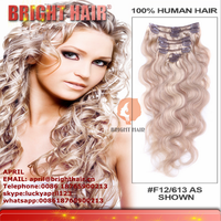 100% japanese premium synthetic fiber clip hair extension