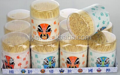 Big Bottle 500pcs custom packing Bamboo toothpicks
