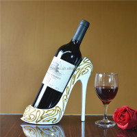wholesale high heel shoe wine holder single wine bottle rack