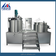 High shear homogenzing dispensing vessel conventional high speed shear glass reactor cosmetic cream mixing machine