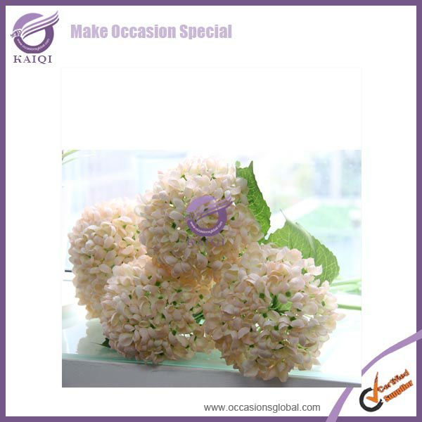 18447 champagne hydrangea silk cheap wholesale artificial flowers