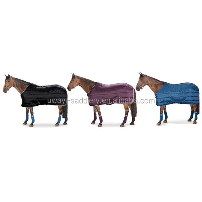 Durable horse rug and leg protection set