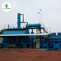 Green technology pyrolysis oil waste oil used engine oil motor oil refinery distillation machine