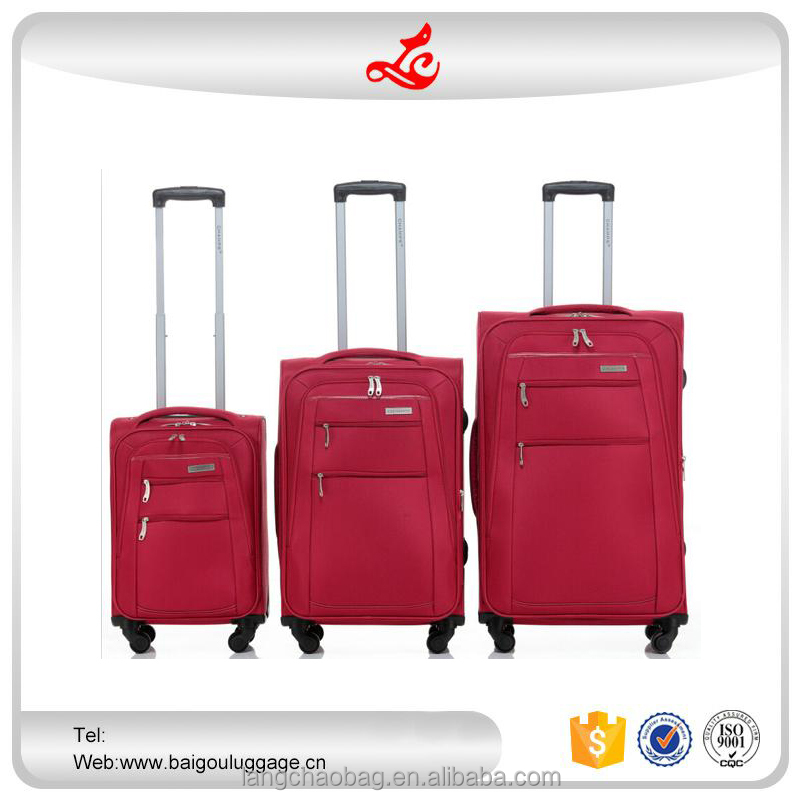 "2016 hot selling travel trends luggage 20""24""28"" trolley case set nylon luggage bag travel"