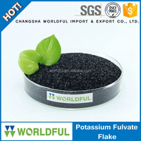 potassium fulvate flake extracted from lignite plant growth regulator