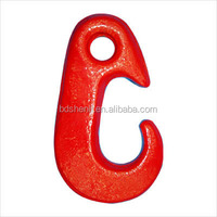 drop forged hardware alloy steel/carbon steel drop forged plastic-sprayed lifting hoist nose shape hook