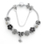 Love Luxury Jewelry Black Crystal Stone Charm Bracelets For Women