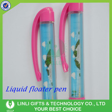 Customized Logo Liquid Floater Balloint Pen