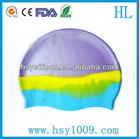 camouflage color swimming cap silicone rubber