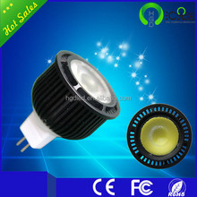plastic Day white 5w dimmable 12v led spotlight mr16 cri 90 cob