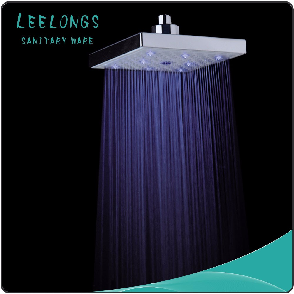 Aluminum Temperature detectable Bathroom LED shower set