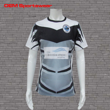 Team associated sports sublimated custom blank rugby shirt