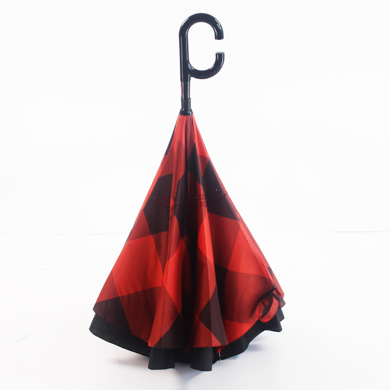 c handle automatic folding mini inverted umbrella